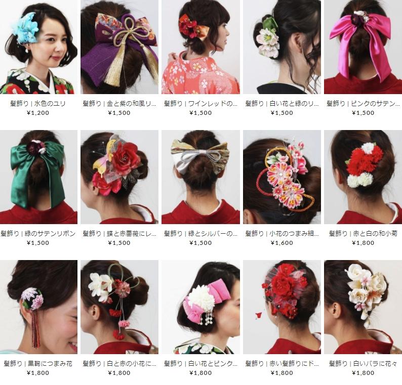 七五三はお子さまにの日本髪に似合う髪かざりレンタルHATAORI商品01