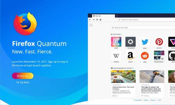 ファイアーフォックスが2倍の速さになって登場Firefox Quantum