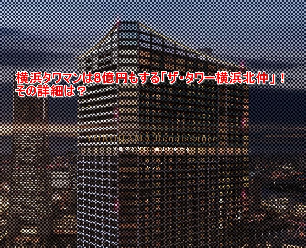 横浜タワマンは8億円もする「ザ・タワー横浜北仲」!その詳細は?