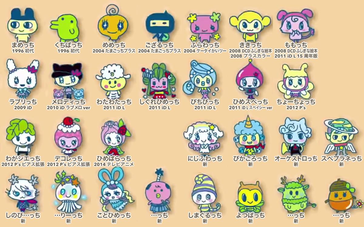 たまごっちみくすtamagotchi Mixキャラクター一覧図鑑全31キャラ